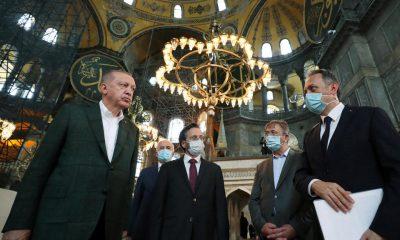 Turkey's Erdogan visits Hagia Sofia after controversial reconversion to mosque