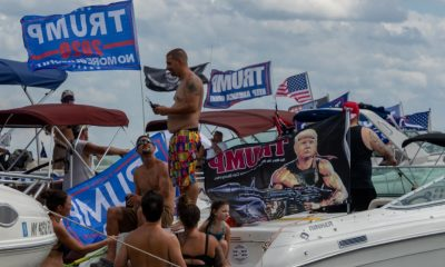 'Trumptilla': Supporters hold boat rallies for US President Trump