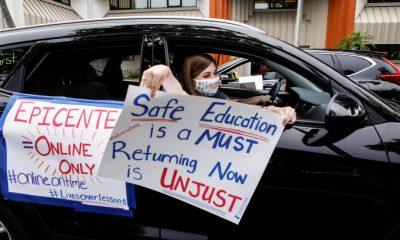 US teachers protest over reopening schools: Coronavirus live
