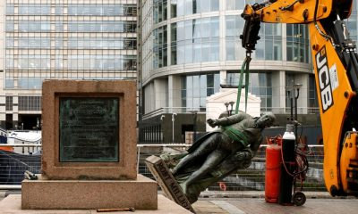 Robert Milligan: London statue of 18th-century slaver removed